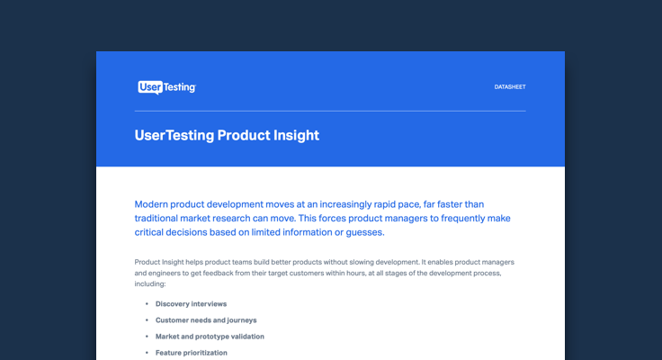 Get to know Product Insight