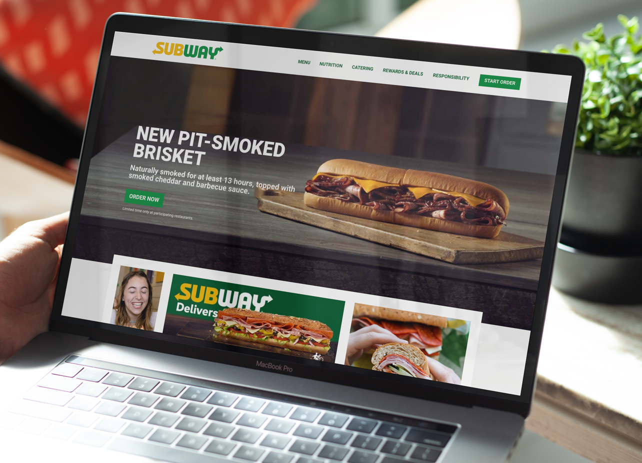 Screenshot of Subway.com