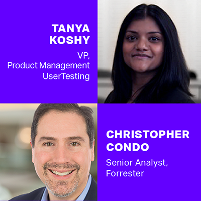 Headshot of Christopher Condo and Tanya Koshy