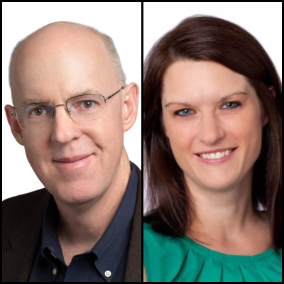 Headshot of Mike Mace and Janelle Estes