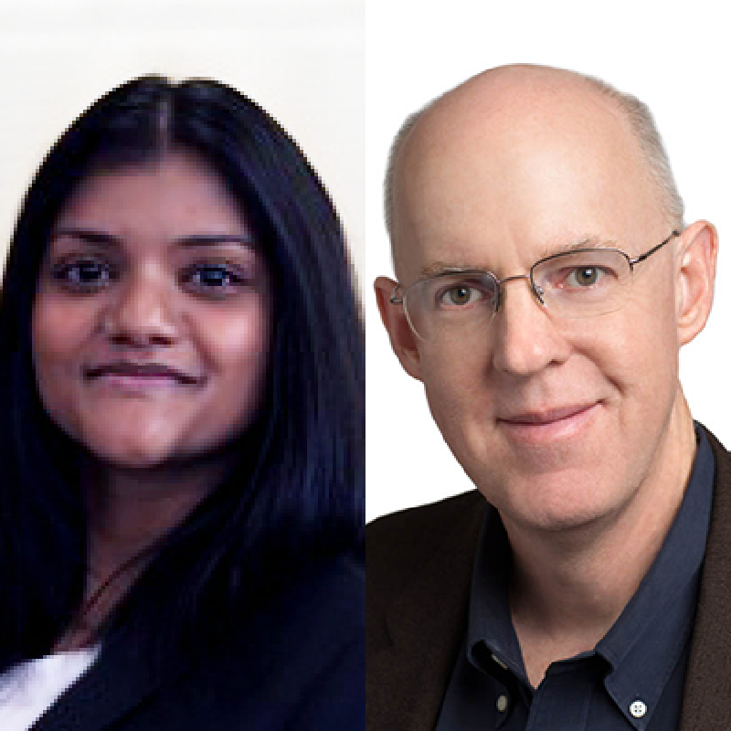Headshot of Tanya Koshy and Michael Mace